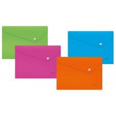Папка-конверт на кнопке А-4 Expert Neon цвет ассортим