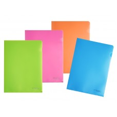 Папка-уголок жесткая пластик Expert NEON 180 мкр цвет ассортим