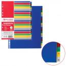 Разделитель на 20 цветов+ цифровой 1-20 BRAUBERG А-4+, пластик