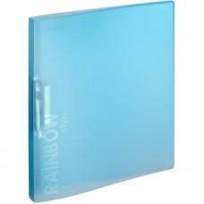 Папка с прижимом Attache Rainbow Style А4 0.45 мм голубая