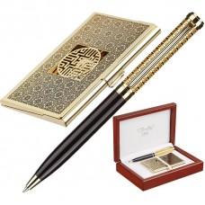 Набор VERDIE Ve-55G шариковая ручка + стальная визитница