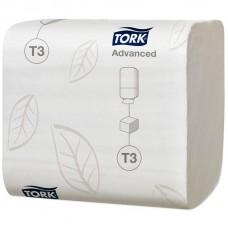Бумага туалетная Tork Advanced Т3 2сл. листовая, 242 л/уп 36/кор 114271