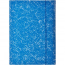 Папка на резинках Attache А-4 картонная синяя