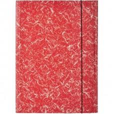 Папка на резинках Attache А-4 картонная красная