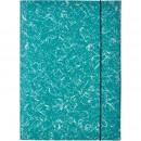 Папка на резинках Attache А-4 картонная зеленая