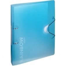 Папка на 2-х кольцах Attache Rainbow Style голубой