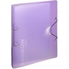 Папка на 2-х кольцах Attache Rainbow Style фиолетовый