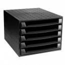 Короб для бумаг Exacompta Эко (черный, 5 отделений)