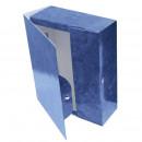 Архивный короб на кнопке ламинированный 100мм, синяя