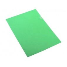 Папка-уголок жесткая пластик Е-310 зелен, плотность 180мкр