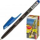 Ручка шариковая MAPED GREEN DARK, треугольный корпус карбон.синий