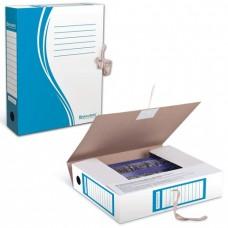 Бокс архивный картонный BRAUBERG 75мм синий