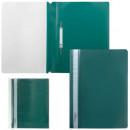 Папка-скоросшиватель с прозрачным верхом Brauberg зеленая
