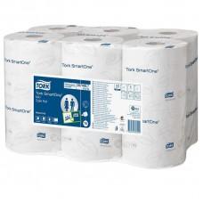 Бумага туалетная Tork SmartOne Т9 472193 в мини-рулонах, 2-слойная 12 рулонов
