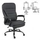 Кресло руководителя HD-001, усиленная конструкция, нагрузка до 200 кг, экокожа,
