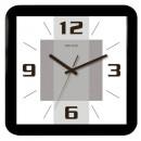 Часы настенные Салют П-А6-138 квадрат, белые с рисунком , черная рамка