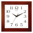 Часы настенные Салют ДС-2АА28-010, квадрат, белые, деревянная рамка,