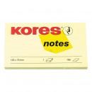 Блок бумажный Kores 125*75 с липк.слоем желтый