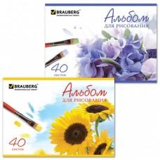 Альбом для  рисования А-4 40 листов, на скрепке, обл. ассорт