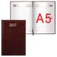 """Ежедневник А-5 на 2017г, Brauberg,""""фактурная кожа"""", коричневый"""