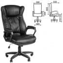 Кресло офисное  Адмирал, кожзам, черное