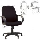Кресло офисное Chairman СН 279-М ,черная ткань, низкая спинка