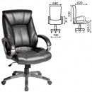 Кресло офисное Maestro EX-506, экокожа, черное,