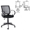 Кресло офисное Эксперт с подлокотниками, черная ткань