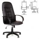 Кресло офисное Chairman CH 727 (кож/зам , черный)