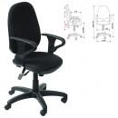Кресло офисное Т612 черная ткань