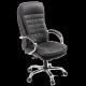 Кресло офисное Пилот Люкс, черное, эко/кожа