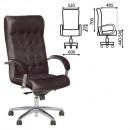 Кресло офисное Lord steel chrome, кожа, хром, черное