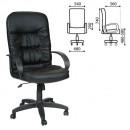Кресло офисное Chairman СН 416 экокожа. цвет  черный