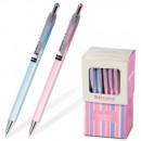 "Ручка шариковая BRAUBERG""Sakura"", корпус ассорти,0,5 мм, автоматич. синяя,"