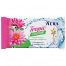 Салфетки влажные Aura Tropic cocktail 15 штук в упаковке