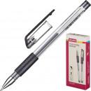 Ручка гелевая Attache Gelios-010, с резин.манж. черная (0.5 мм)
