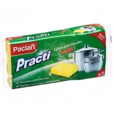 Губки для посуды Паклан  3шт/уп