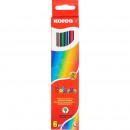 Набор цветных карандашей  Kores 6 цветов. шестигранные