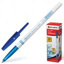 """Ручка шариковая BRAUBERG """"Офисная"""", корпус белый, ( 0,5 мм), синяя"""