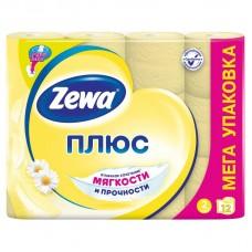 Бумага туалетная Zewa Plus 2-х сл желтая ароматизиров. 12рул./уп.