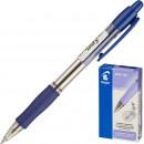 Ручка шариковая Pilot BPGP-10R-F, автоматическая, рез. манжета, синяя
