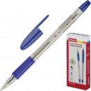 Ручка шариковая Attache Antibacterial А03, маслянная, с резин.манж.синяя