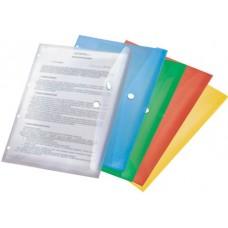 Папка-конверт на кнопке А-4 синий  с ПЕРФОРАЦИЕЙ