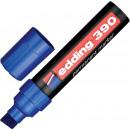 Маркер перманент Edding E-390 4-12мм,скошенный, синий