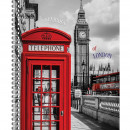 Тетрадь А-4 80 лист London на пружине картоннная обложка
