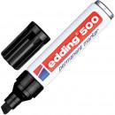 Маркер перманент Edding E-500 скошен.2-7мм черный