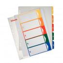 Разделитель на 5 цветов пластик Esselte А-4+