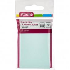 Блок бумажный с липким слоем  51*76 Attache голубой