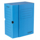 Короб архивный 150мм, с клапаном, микрогофрокартон, синий