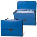 Портфель пластик на 6 отд.А-4 Brauberg 33*25,6*3,2 синий